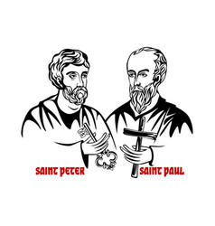 The saints apostles peter and paul vector
