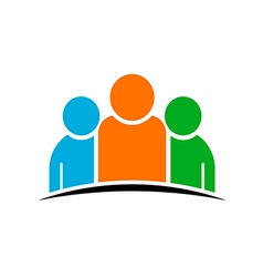 Three people team Concept of Group of People vector image