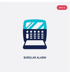 Two color burglar alarm icon from electronic vector