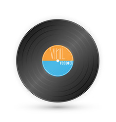 vinyl music record vintage gramophone disc vector image