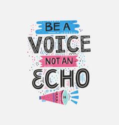 Voice not echo vector