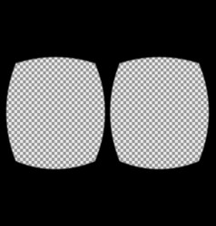 vr helmet overlay vector image