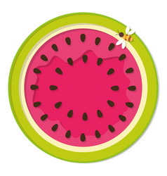 watermelon colorful icon isolated on white vector image