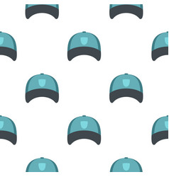 Winter hat pattern flat vector
