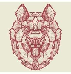 Zentangle Dog Husky vector