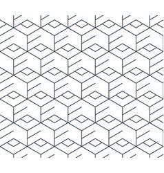 black line pattern on white seamless backdrop vector image