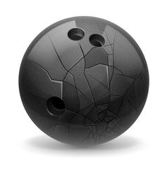 Broken ball vector image vector image