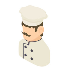 chef man icon isometric 3d style vector image