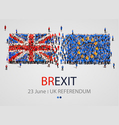 crowd or group of people in form of british and vector image