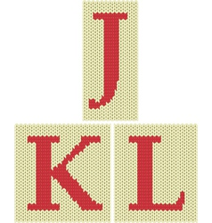 Knitted silhouette letters vector image