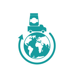 logistics icon delivery sign truck carries goods vector image