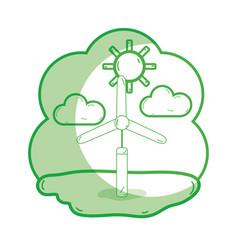Silhoutte windpower industries to healp the vector
