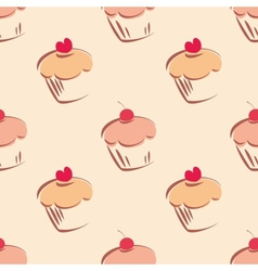 Tile cupcake pattern vector