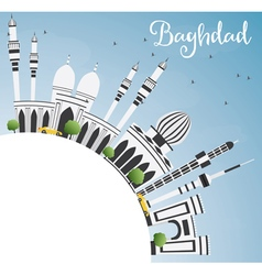 Baghdad Skyline with Gray Buildings vector image vector image
