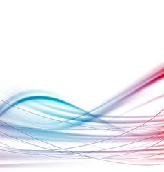 Modern power wave swoosh background vector image vector image