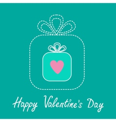 Big gift box and small gift box inside Valentines vector image