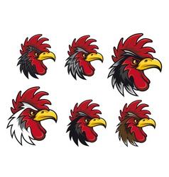 cartoon cocks vector image vector image