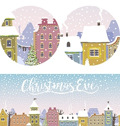 Christmas Old Town vector image vector image
