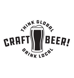 craft beer design vector image vector image