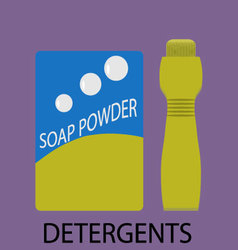 Detergents icon flat design vector image vector image