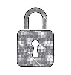 drawing padlock lock security protection digital vector image vector image