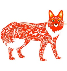 fox red vector image vector image