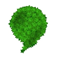 Green Leaves Speech Bubbles Isolated vector image