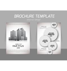 Realt estate flyer vector image vector image