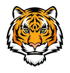 tiger head logo vector image vector image