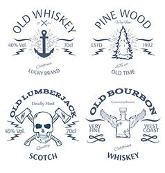 Vintage Style Whisky Label Design vector image