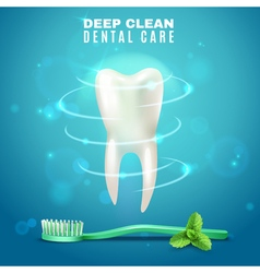 Deep cleaning dental care background poster vector