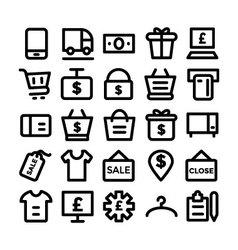 Shopping icon 8 vector