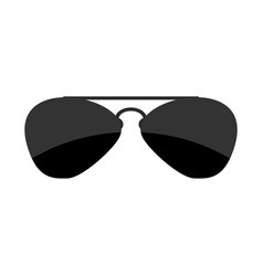 Sunglasses isolated accessory from sun on white vector
