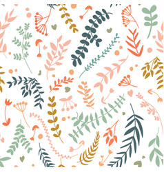 Abstract botanical seamless pattern vector