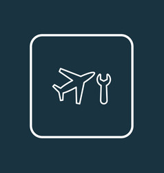 aircraft maintenance icon line symbol premium vector image