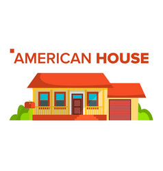 american house building modern urban city vector image