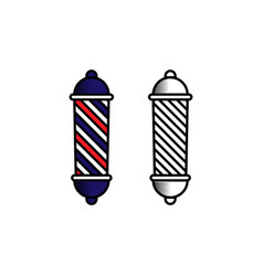 barber logo design inspiration vector image