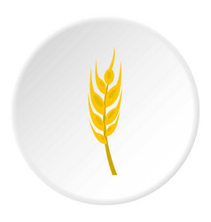 Barley spike icon circle vector
