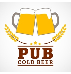 Beer pub poster vector