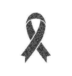 Black awareness ribbon sign black icon vector