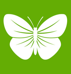 black butterfly icon green vector image