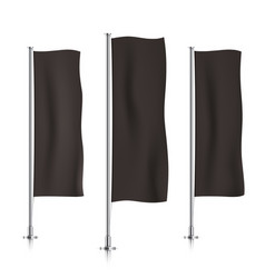 Black vertical banner flag templates vector