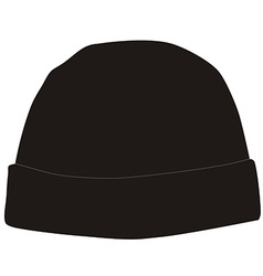 Black winter hat vector image vector image