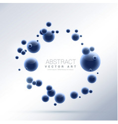 Blue abstract molecules particles background vector