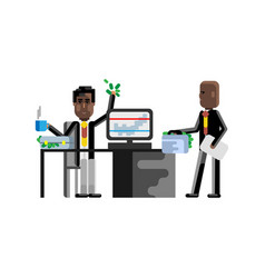 business meeting african businessmen in office vector image