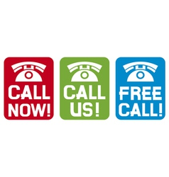 Call now - Call us - Free call vector image