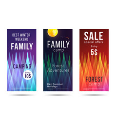 camping and leisure leaflets discounts for camping vector image