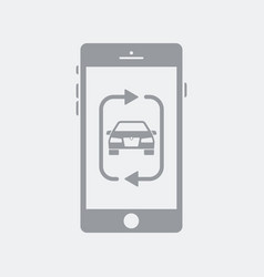 Car sharing application on smartphone vector