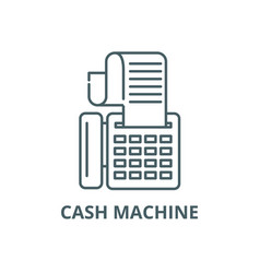 cash machine line icon cash machine vector image