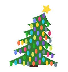 christmas tree with christmas balls vector image